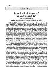 ELEK TIBOR: Egy szlovákiai magyar író és az