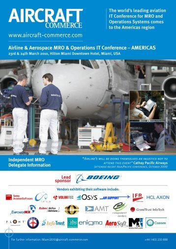 to download your conference brochure - Aircraft Commerce