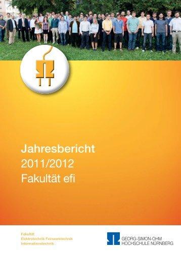 Jahresbericht 2011/2012 Fakultät efi - Elektrotechnik ...
