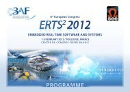 erts² 2012 programme at-a-glance