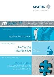 Newsletter move! November/December 2008 - Mathys AG Bettlach