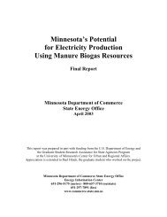 Minnesota's Potential for Electricity Production Using Biogas ...