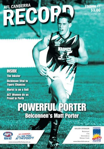 Record Edition 11 - AFL Canberra