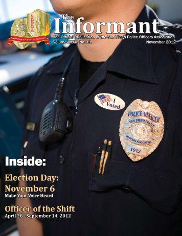 November 2012 Informant - San Diego Police Officers Association