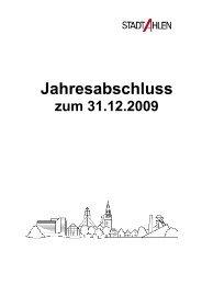 Jahresabschluss - der Stadt Ahlen