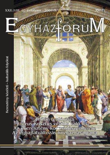 Philón teológiája Jézus Krisztus velünk való léte Az ókeresztény ...