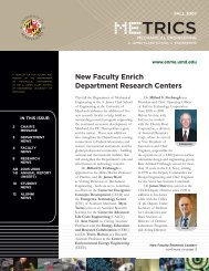 METRICS - Mechanical Engineering - University of Maryland