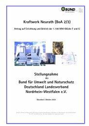 Stellungnahme vom 20.10.2004 - Bund für Umwelt und Naturschutz ...