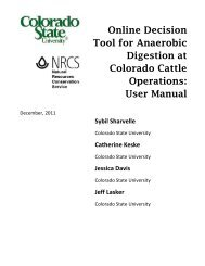 Technical Guide for the use of an Online - eRAMS - Colorado State ...