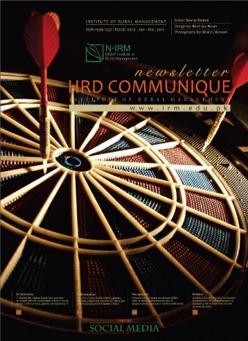 HRD Communique - IRM - Institute of Rural Management