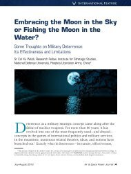 Embracing the Moon in the Sky or Fishing the ... - The Air University