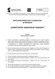 regulamin rekrutacji i uczestnictwa w projekcie - Stowarzyszenie ...