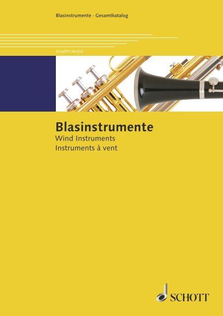 Blasinstrumente Schott Music