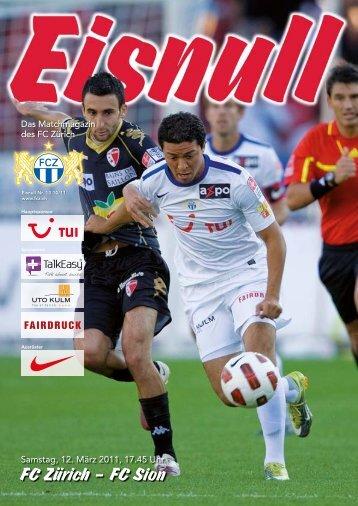 Nr. 13 10/11 (Sion) - FC Zürich