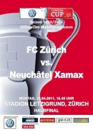 Schweizer-Cup-Halbfinal - FC Zürich