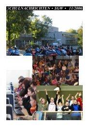 SCHULNACHRICHTEN • SGW • 11/2006 - Gymnasium Wülfrath