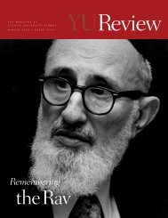 Remembering - YU Blogs - Yeshiva University