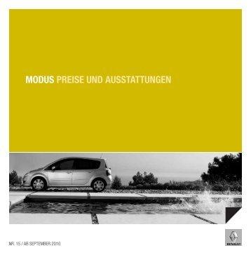 MODUS PREISE UND AUSSTATTUNGEN - Garage Sigrist AG