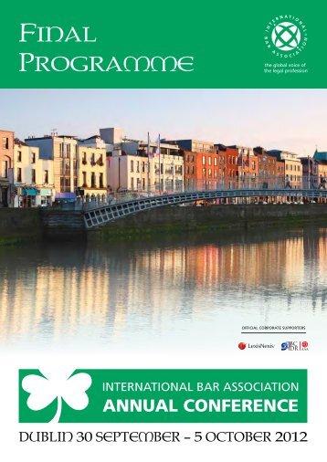Final Programme - International Bar Association