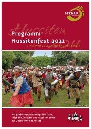 Programm Hussitenfest 2011 - Hussitenfestspiele in Bernau bei Berlin