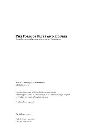 The Form of Facts and Figures - WORK