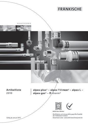 alpex L - Fränkische Rohrwerke