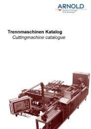 Trennmaschinen - Arnold Gruppe