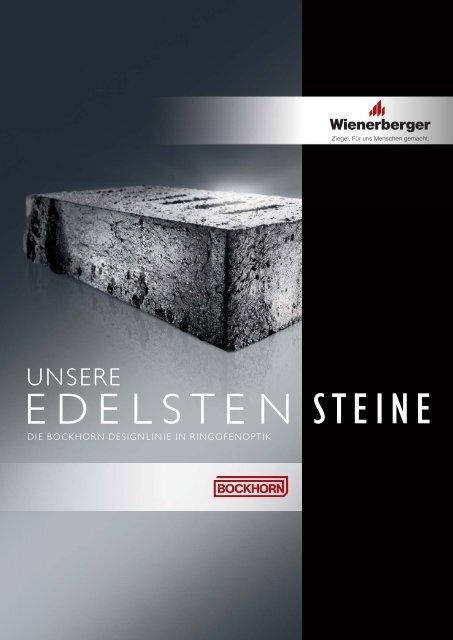 """Broschüre """"Unsere edelsten Steine"""" - Wienerberger"""