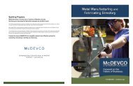 Metal Manufacturing and Fabricating Directory - MCDEVCO