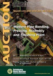 Modern Pipe Bending, Pressing, Assembly and Finishing Plant ...