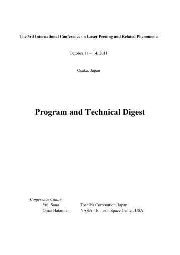 Program and Technical Digest - Osaka University