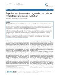 Bayesian semiparametric regression models to characterize ...