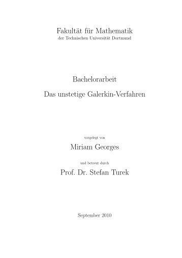 Fakultät für Mathematik Bachelorarbeit Das unstetige Galerkin ...