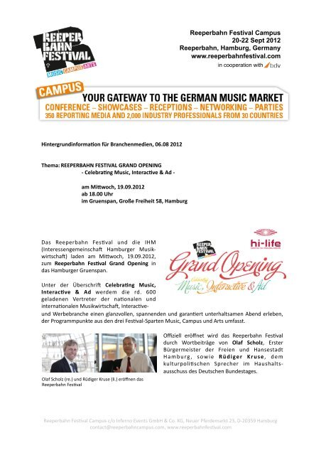 Reeperbahn Campus_Presseinformation_01.08.2012 - Hi Life