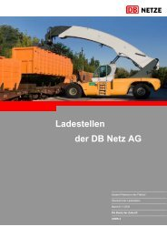 Ladestellen der DB Netz AG - Deutsche Bahn AG