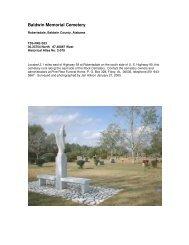 Baldwin Memorial Cemetery - RootsWeb