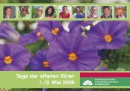 Tage der offenen Türen 1. / 2. Mai 2009