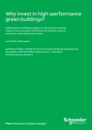 Why invest in high-performance green buildings? - Schneider Electric