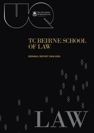TC Beirne School of Law - University of Queensland