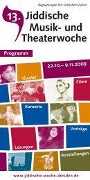 Jiddische Musik- und - 15. Jiddische Musik- und Theaterwoche