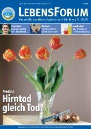 3 Artikel zur Organspende und Hirntod aus - Kritische Bioethik ...