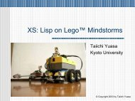 XS: Lisp on Lego™ Mindstorms