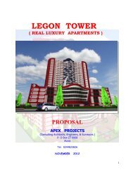 legon tower ( real luxury apartments ) - Investimenti in Ghana