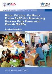 Bahan Pelatihan Fasilitator Forum SKPD dan Musrenbang Rencana ...