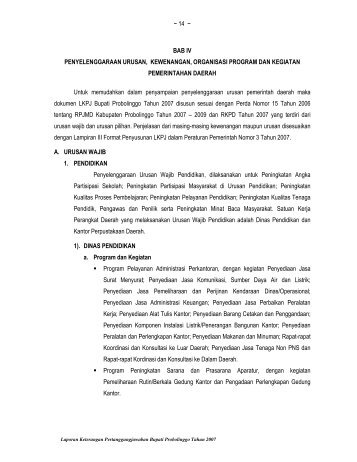 Bab IV - Pemerintah Kabupaten Probolinggo