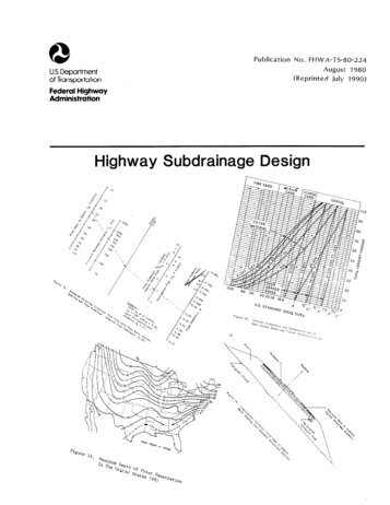 Highway drainage design manual