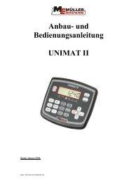 UNIMAT II - Bedienungsanleitung - Remund + Berger