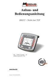 BASIC - Terminal TOP Bedienungsanleitung - Remund + Berger