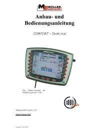 COMFORT - Terminal - Bedieungsanleitung - Remund + Berger