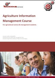 Agriculture Information Management Course - Farm Software